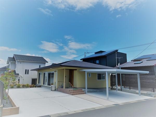 機能的で動きやすいバリアフリーの平屋建て「F&Pの家」 鹿児島市 吉野町